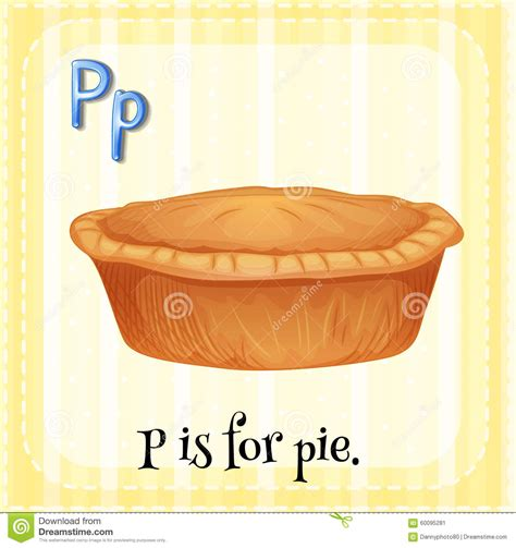 writing a referral letter flashcard letter p is for pie stock vector image 60095281