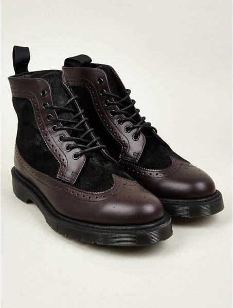 oxblood mens boots dr martens mens oxblood matias brogue boots in purple for
