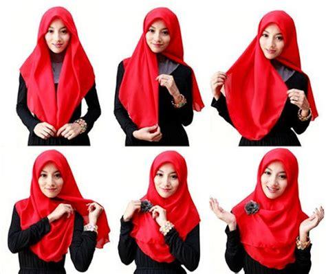 tutorial hijab segi empat simple anak remaja ragam muslim