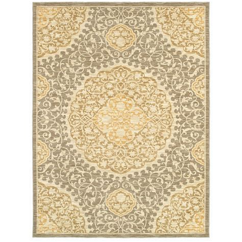 Lowes Area Rugs 9x12 Shop Allen Roth Thorndale 7 Ft 9 In X 10 Ft 3 In Rectangular Gray Floral Area Rug At Lowes