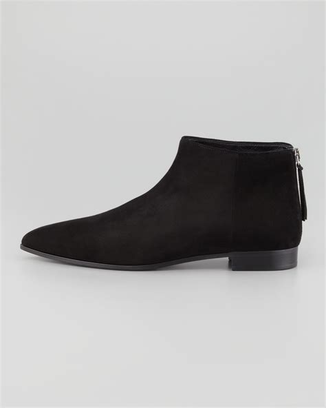 suede flat ankle boots brown shoes mod