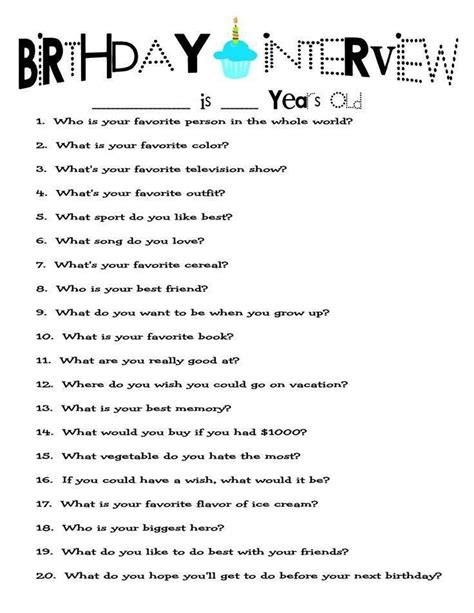 10 questions about new year 25 best ideas about birthday questions on