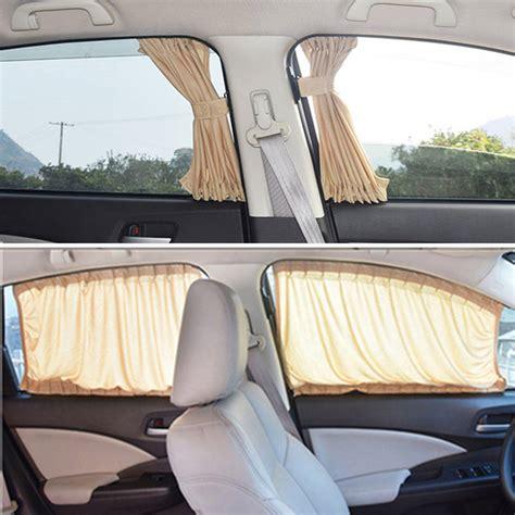 sun curtains for cars 2pcs set aluminum alloy elastic car side window sunshade