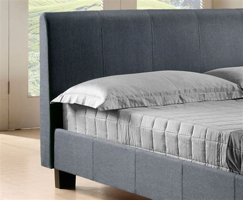 grey upholstered bed easton small double 4ft grey upholstered bed 3 day