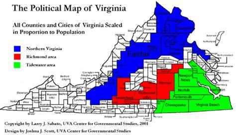 political map of virginia sabato s political maps