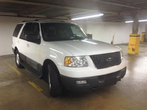 Expedition 6678 White Black Green Leather sell used 04 expedition xlt awd third row nbx leather white power seats clean carfax in great