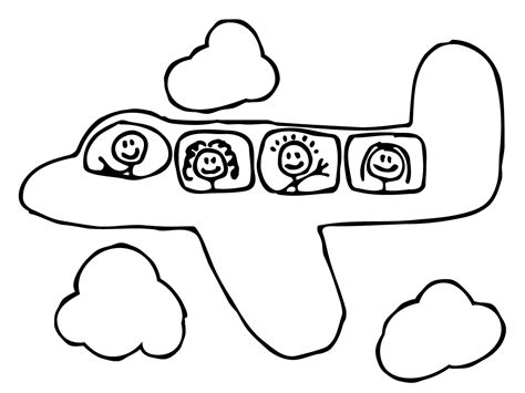 airplane template preschool free printable airplane coloring pages for