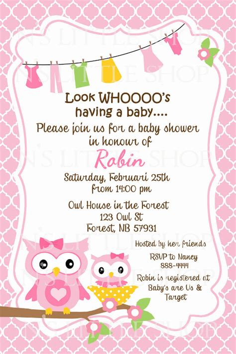 Invitation Letter New Born Baby Owl Sayings For Baby Baby Shower Invitation Wording Baby Shower Invitations Cheap