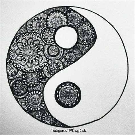zentangle yin yang by ms artisticdreamer on deviantart