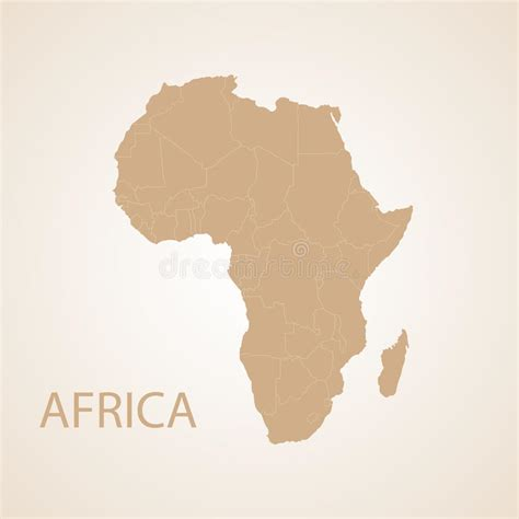 africa map design africa map brown stock vector image 50149345