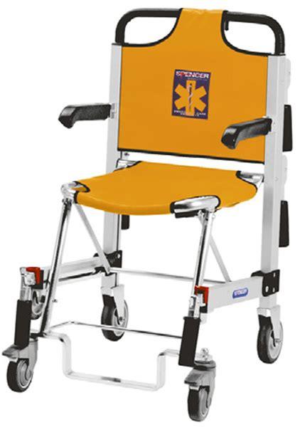 sedia scendiscale sedia portantina da evacuazione a 4 ruote spencer 455 b in