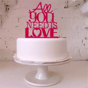 all you need is modern wedding cake topper by miss cake notonthehighstreet