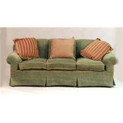 green chenille sofa a contemporary green chenille sofa