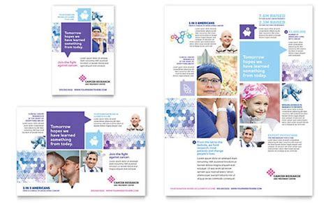 Cancer Research Letterhead Cancer Treatment Ad Template