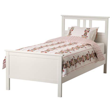 Ikea White Bed Frame Single Hemnes Bed Frame White Stain Leirsund Standard Single Ikea
