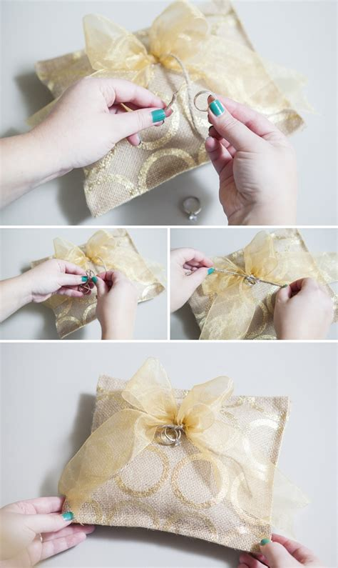 Diy Cing Pillow by Learn How To Make A Ring Bearer Pillow With Glue Only