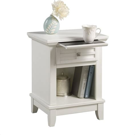 White Bedroom Nightstands by Home Styles Arts Crafts Headboard Stand White