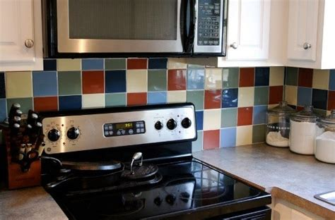 how to paint tile backsplash in kitchen before after painting kitchen backsplash tile