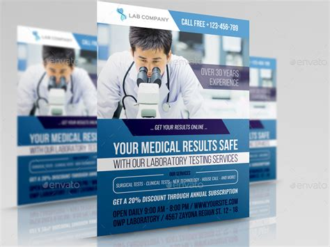 flyer design lab medical laboratory advertising bundle by owpictures