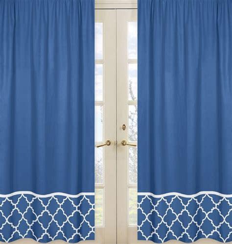 White Trellis Panels Blue And White Trellis Window Treatment Panels Set Of 2