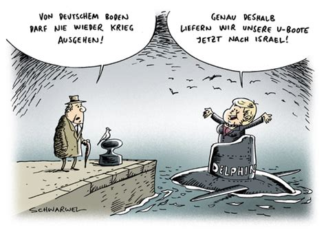 cartoon u boat u boot israel iran von schwarwel politik cartoon toonpool