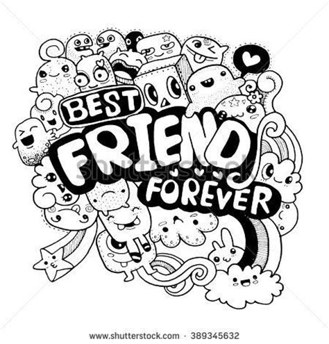 doodle with friends 25 best images about bffl best friend forever on