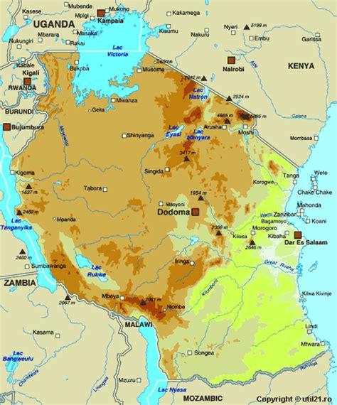 map  tanzania maps worl atlas tanzania map