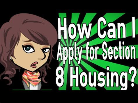 how do you get section 8 housing how can i apply for section 8 housing youtube
