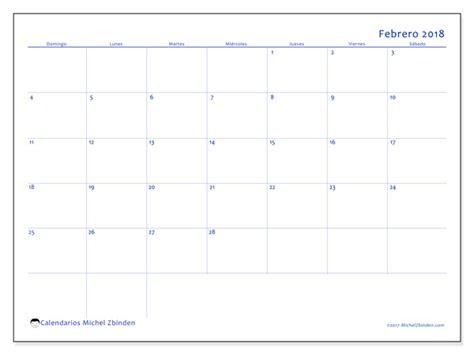 calendario para imprimir febrero 2018 ursus colombia
