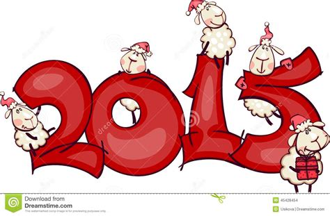 new year goat ram banner 2015 with the ram stock vector image 45428454