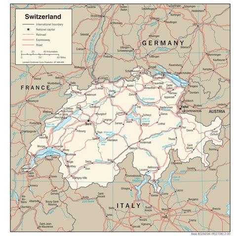 map of switzerland cities switzerland maps perry casta 241 eda map collection ut