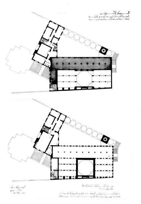 floor plan of a mosque wehda mosque and islamic centre design drawing