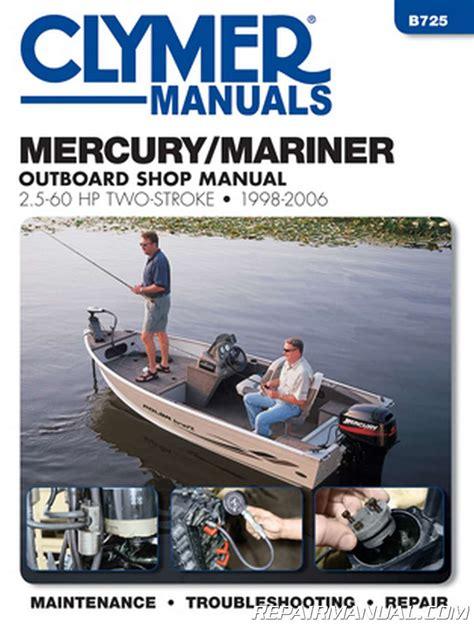 mercury mariner hp hp outboard boat engine repair manual