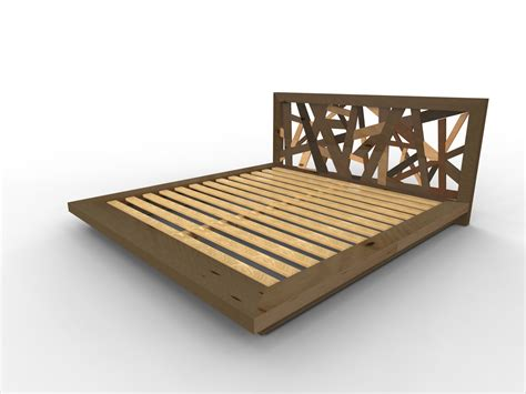 Plans For Bed Frames Diy Bed Frame With Storage The Lincoln Series Platform Bed Silhouette Size Design
