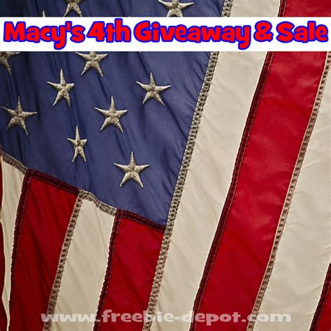 Free Giveaways And Sles - free 1000 macy s giveaway and sale macys4thfun thru 7 4 17 freebie depot