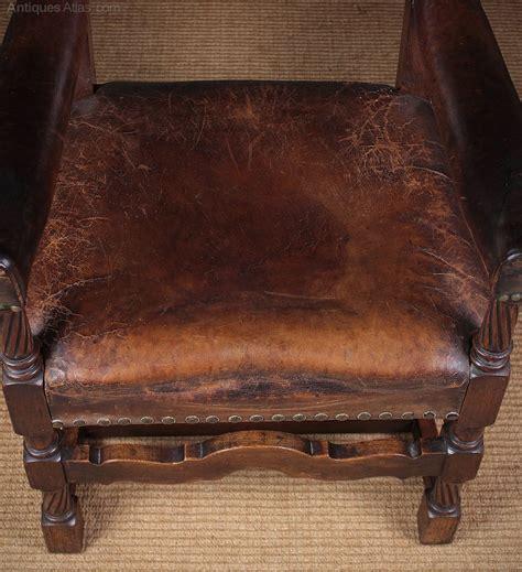 oak leather armchair c 1910 antiques atlas