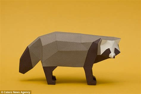 Origami Raccoon - argentinian origami experts create range of