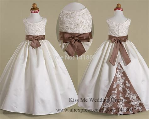 Flower Dress By Twinies Store aliexpress buy lovely white lace flower