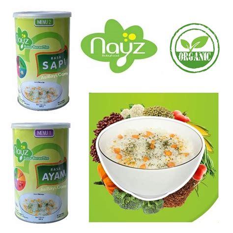 mapasi bayi bubur tim organik nayz menu 1 rasa ayam nayz bubur beras tim bayi organik kaleng 300 gram sehat