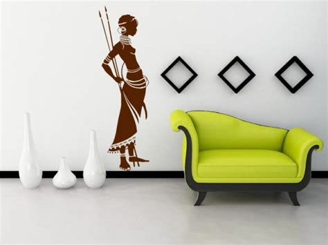 African Wall Stickers african masai warrior exotic wall sticker wall