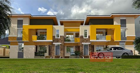 A 1 Story House 2 Bedroom Design Contemporary Nigerian Residential Architecture