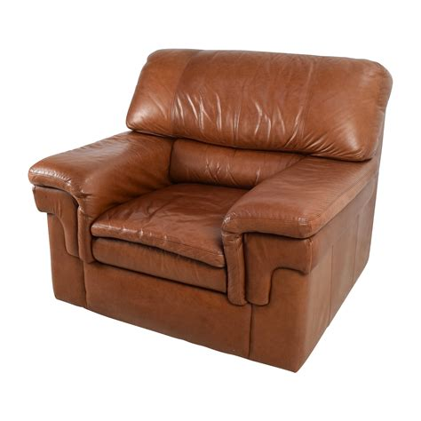 leather armchair brown 70 off classic cherry brown leather armchair chairs