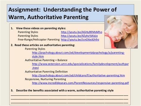 authoritative biography definition parent seminar student guide part 1 laying a foundation