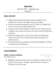 entry level quality assurance resume sles qa software tester resume sle entry level creative