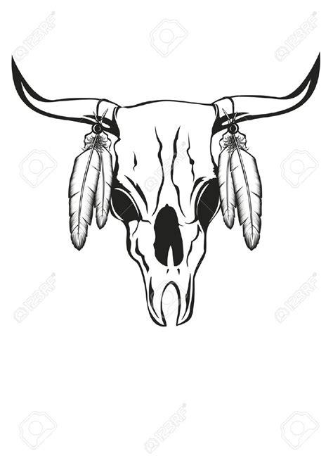 18 Cow Skull Tattoo Designs Bull Skull Tattoos With Feathers