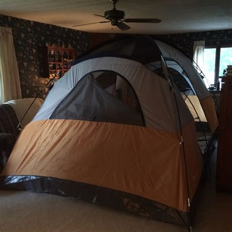 timlybarger day 33 living room tent searching for cups
