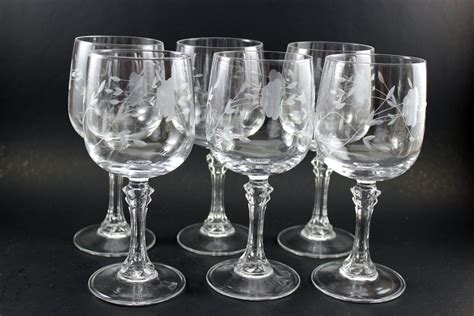 princess house crystal catalog princess house bordeaux 7 quot crystal wineglasses 6