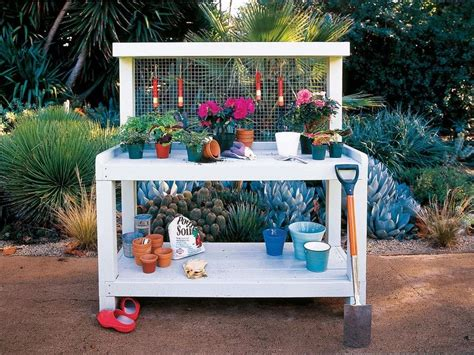 potting bench plans    diy
