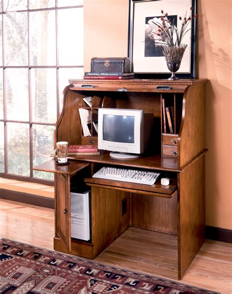 Small Roll Top Computer Desk Small Roll Top Computer Desk 62 Quot Traditional Computer Roll Top Desk With Pull Out Return
