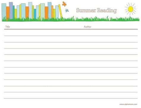 summer reading log template summer reading alpha